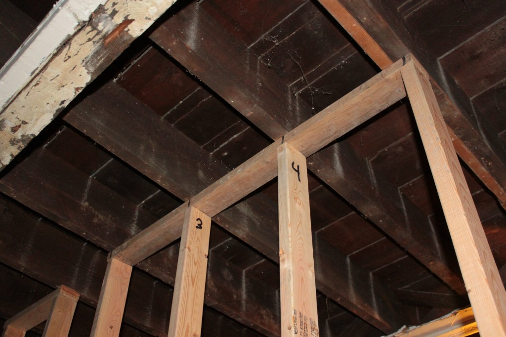 Temporary Wall Under Joists