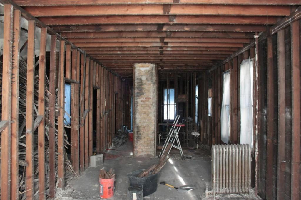 First floor demoed