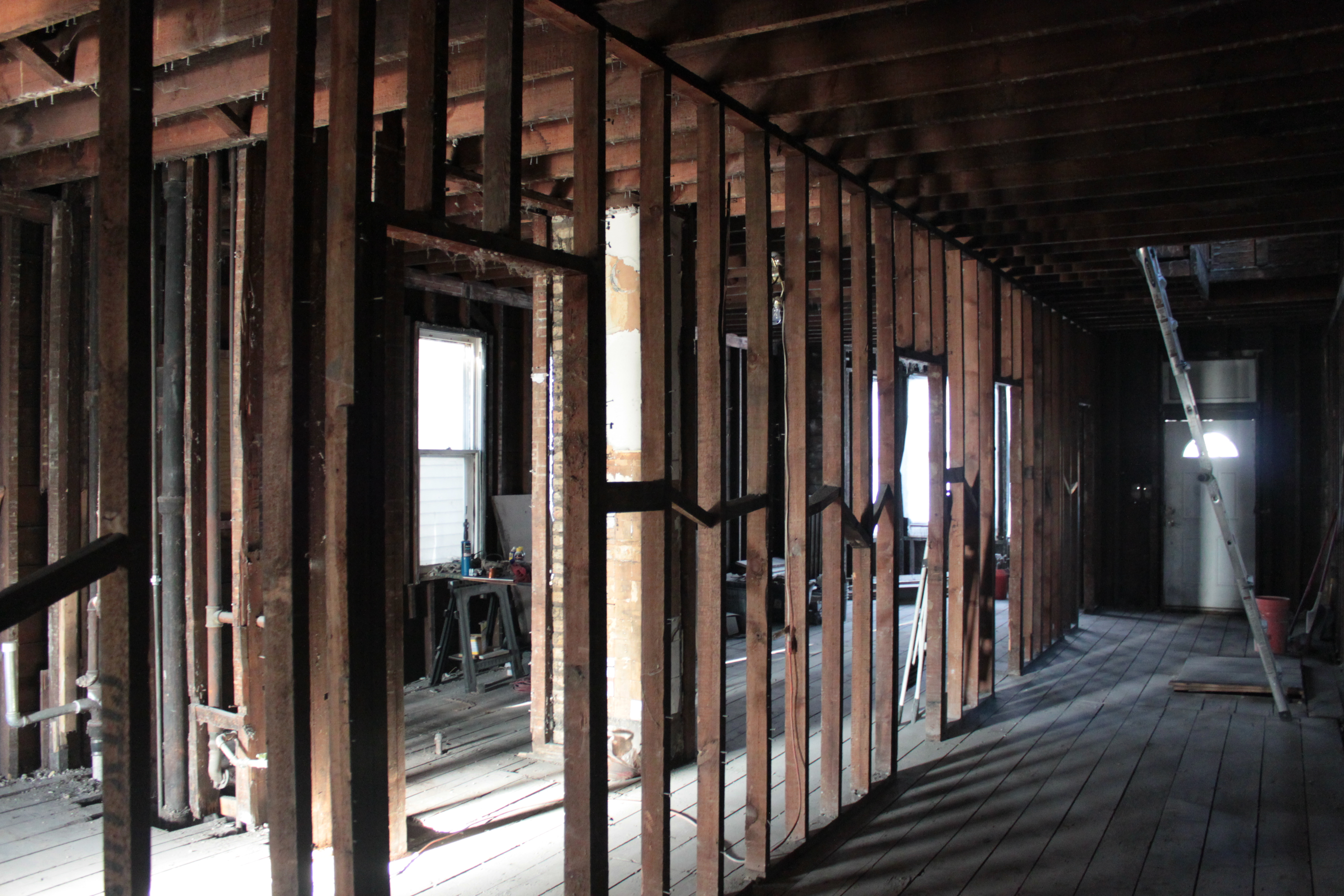 Load Bearing Wall : First floor beam wall move two flat remade