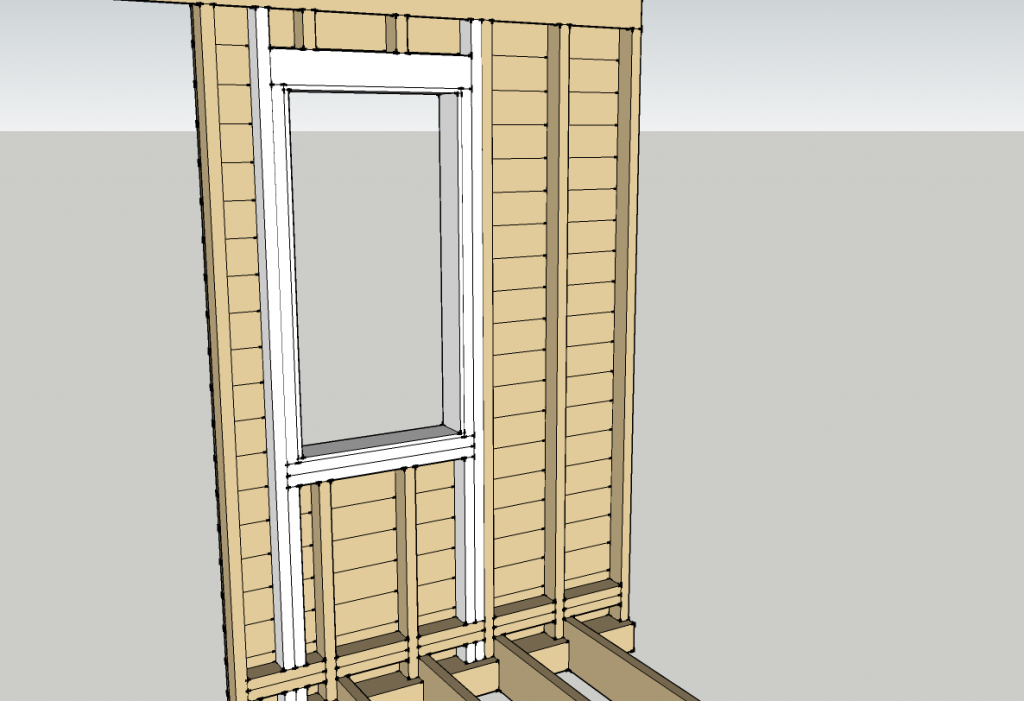 Window framing (new framing in white)
