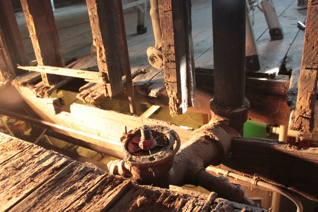 Toilet flange and rotted joist