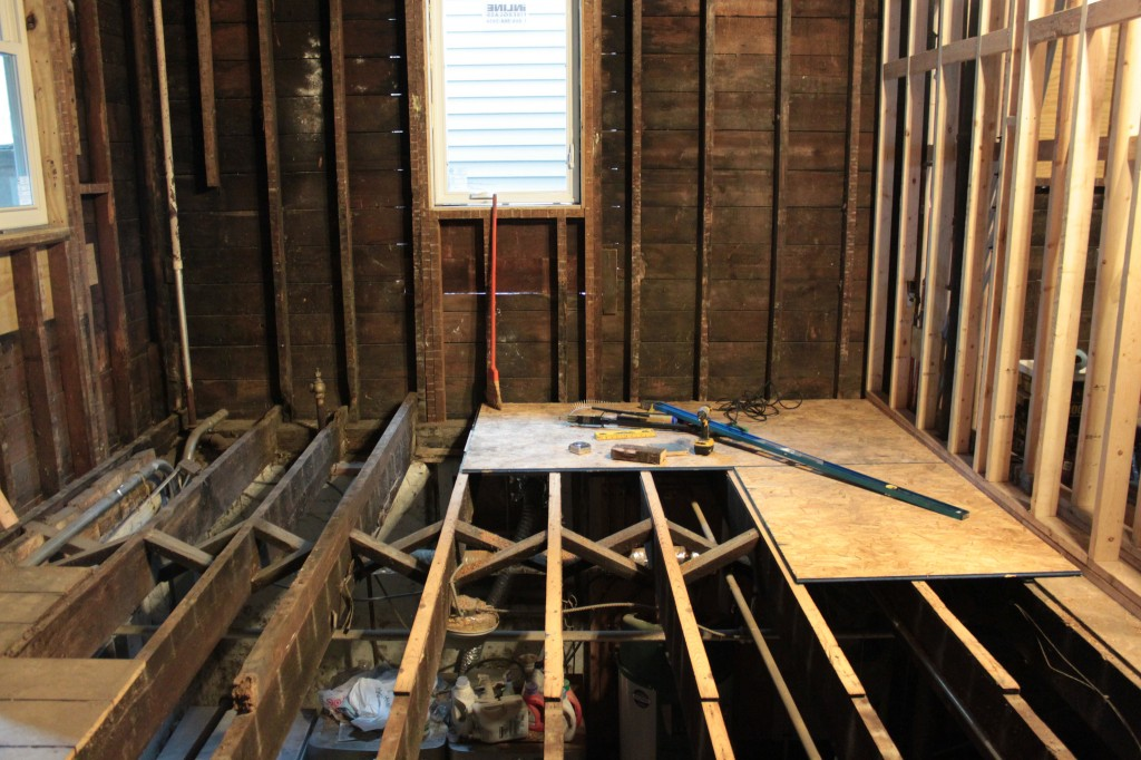 Shimming over subfloor