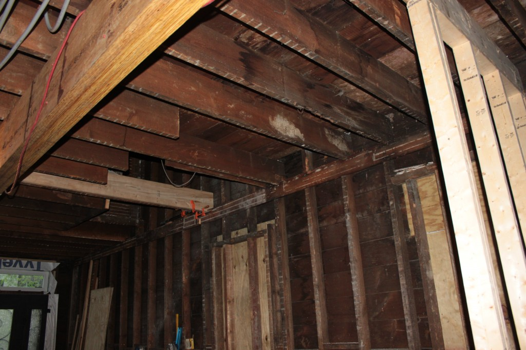 Sistered joist on opposite side