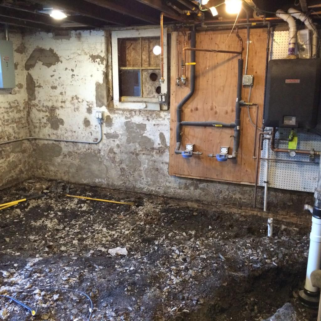 Concrete removed
