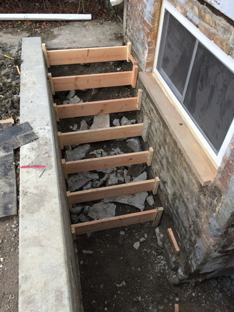 Formed steps