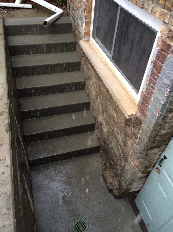 back basement steps two flat remade