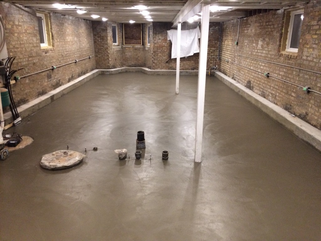 Basement Floor Pour Two Flat Remade