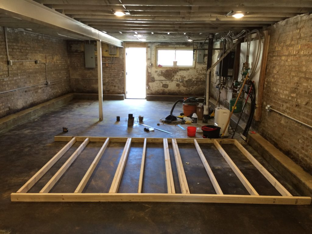 Basement interior wall framing two flat remade - Interior basement ...