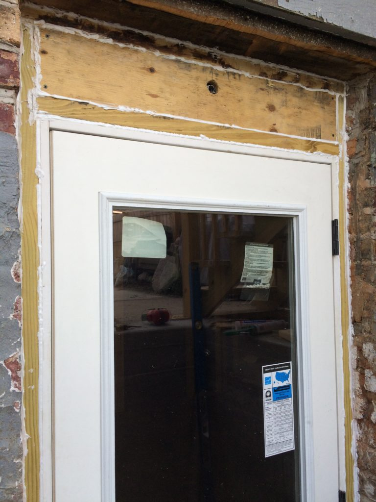 Caulked back door